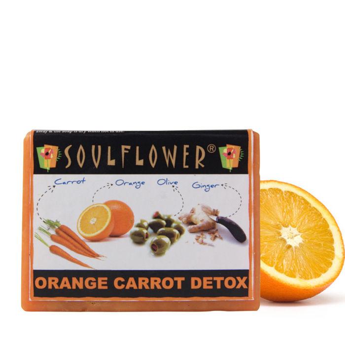 Buy Soulflower Soap Orange Carrot Detox (150 g)-Purplle