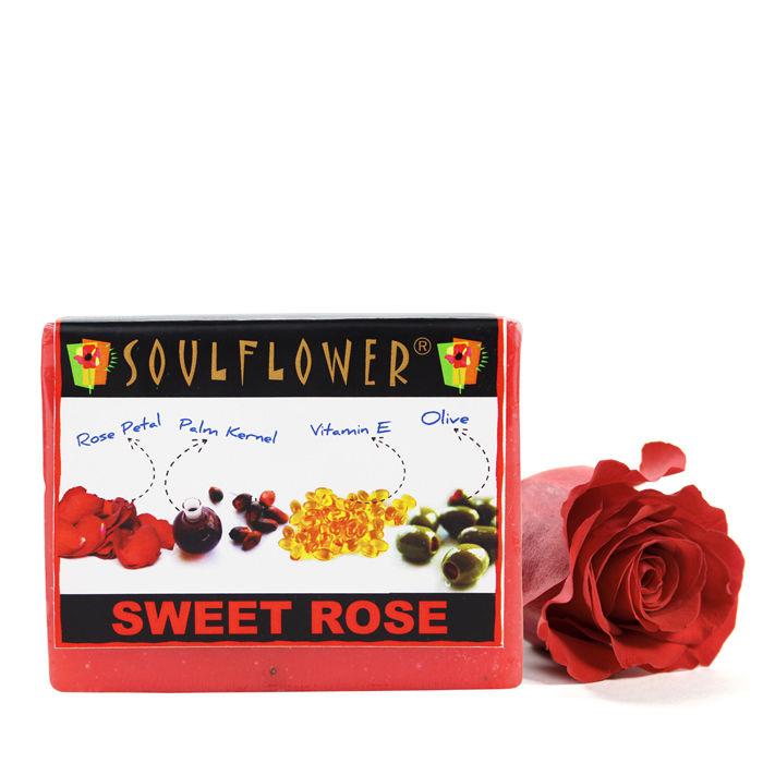 Buy Soulflower Soap Sweet Rose (150 g)-Purplle