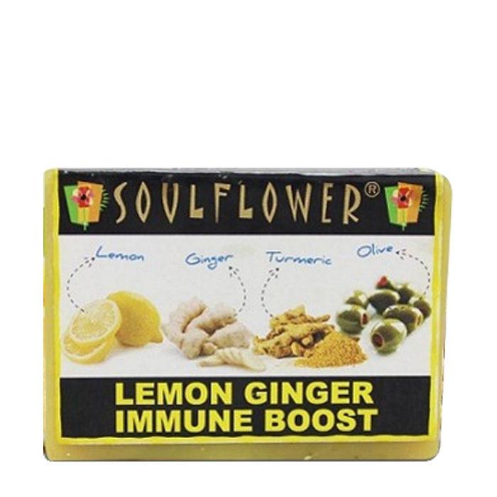 Buy Soulflower Soap Lemon Ginger Immune Boost (150 g)-Purplle