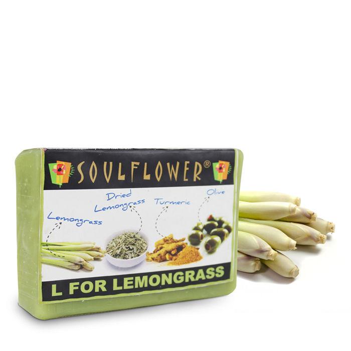 Buy Soulflower Soap L For Lemongrass (150 g)-Purplle