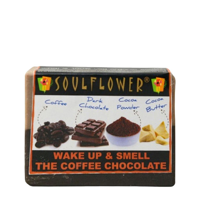 Buy Soulflower Soap Wake Up and Smell The Coffee Chocolate (150 g)-Purplle