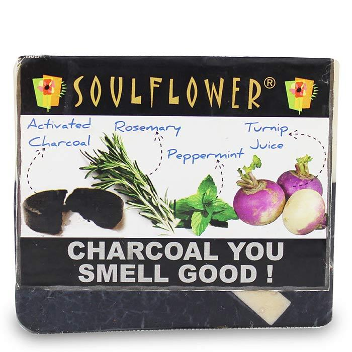 Buy Soulflower Soap Charcoal You Smell Good (150 g)-Purplle