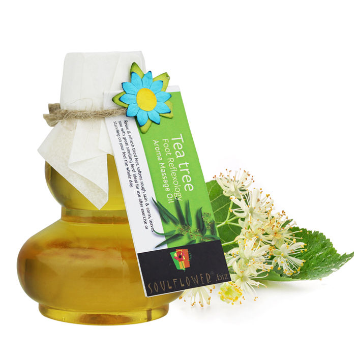 Buy Soulflower Aroma Massage Oil Tea Tree Foot Reflexlogy (90 ml)-Purplle