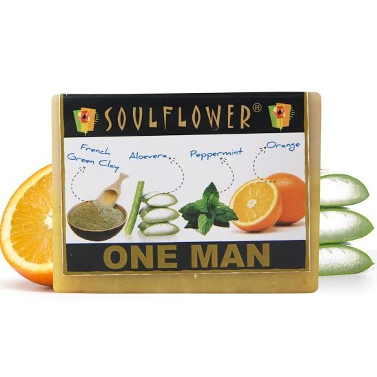 Buy Soulflower Soap One Man Soap (150 g)-Purplle