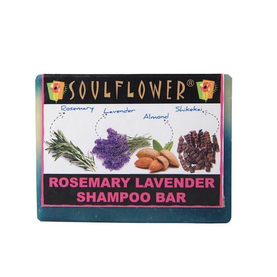 Buy Soulflower Soap Rosemary Lavender Shampoo Bar (150 g)-Purplle