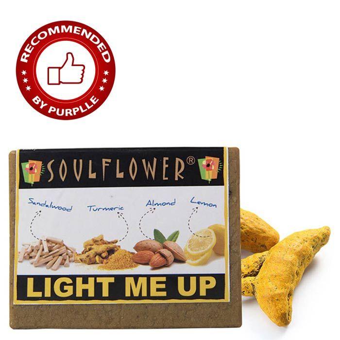 Buy Soulflower Soap Light Me Up (150 g)-Purplle