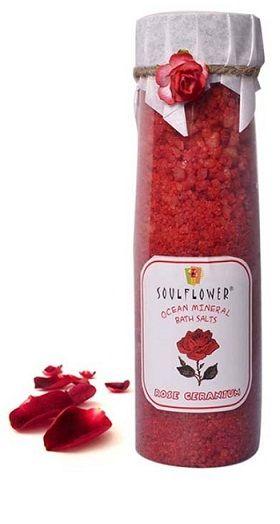 Buy Soulflower Rose Geranium Bathsalt (500 g)-Purplle