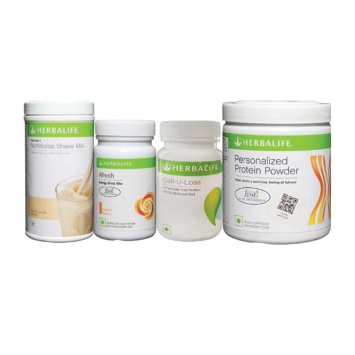 Herbalife Weight Loss Pack French Vanilla Cell U Loss Protein Powder Peach