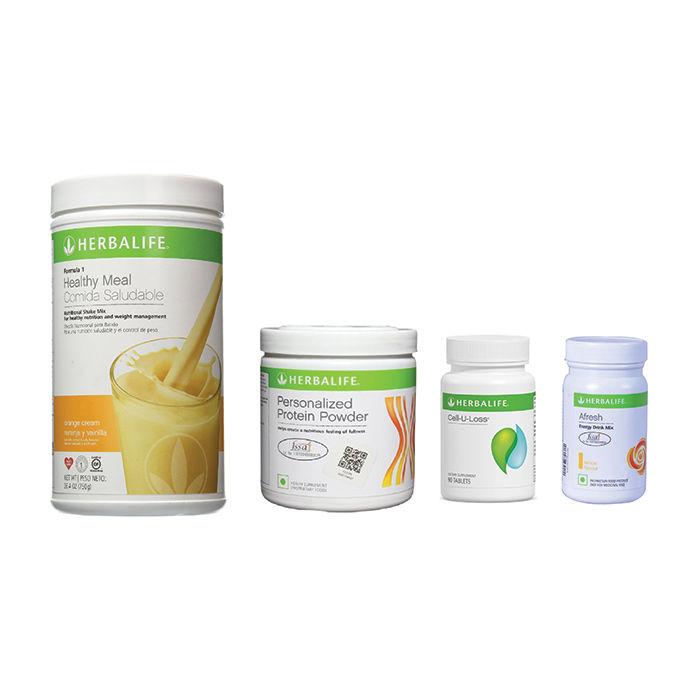Herbalife Weight Loss Pack Orange Cream Cell U Loss Protein Powder Lemon