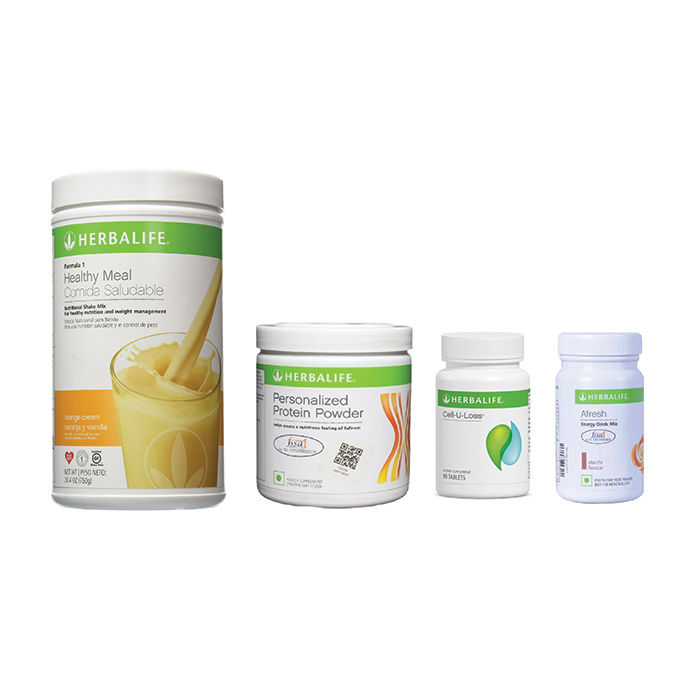 Herbalife Weight Loss Pack Orange Cream Cell U Loss Protein Powder Elaichi