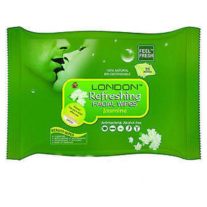 Buy London Refreshing Facial 25 Wipe Wet Face Tissue Cleansing Moisturising - Jasmine-Purplle