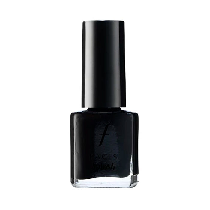 Buy Faces Canada Splash Nail Enamel - Black Beauty 15 (7 ml)-Purplle