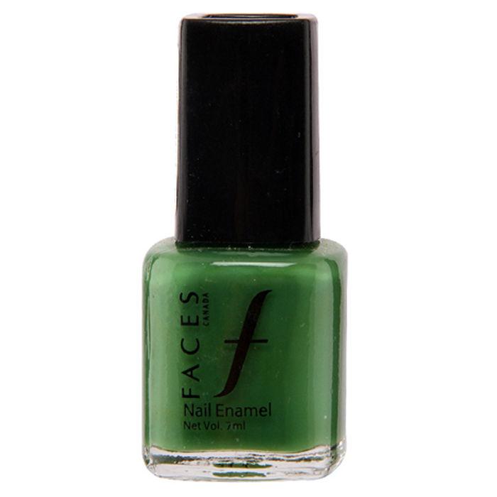 Buy Faces Canada Small Nail Enamel Go Green 17-Purplle