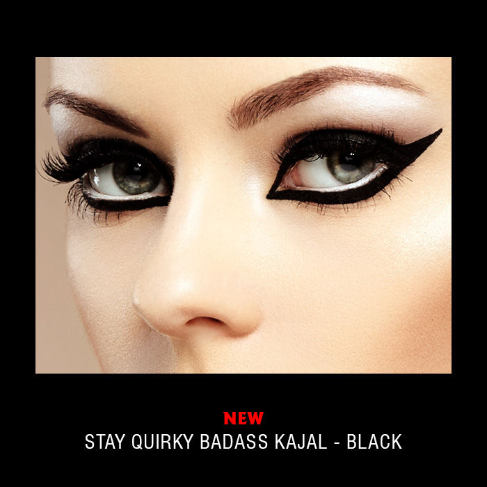 Purplle Offer Stay Quirky Kajal, Black, BadAss 1 (0.25 g)