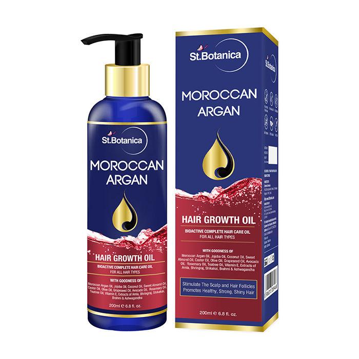 0f1044010abf St.Botanica Moroccan Argan Hair Growth Oil (200 ml) (With Jojoba, Almond,  Castor, Olive, Avocado, Rosemary)