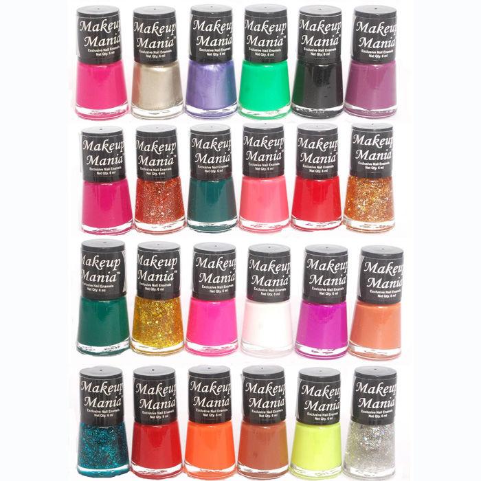 Makeup Mania Exclusive Nail Polish Set of 24 Pcs (Multicolor Set ...