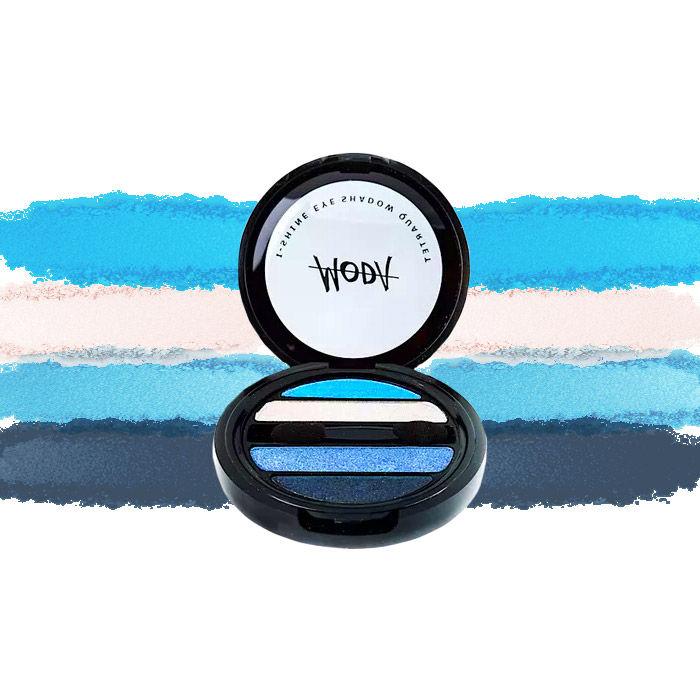 Buy Moda Cosmetics I Shine Eyeshadow Quartet Oceanic 03-Purplle