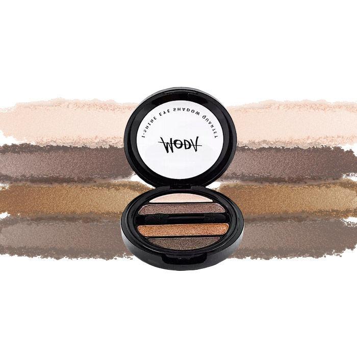 Buy Moda Cosmetics I Shine Eyeshadow Quartet Bronze 07-Purplle