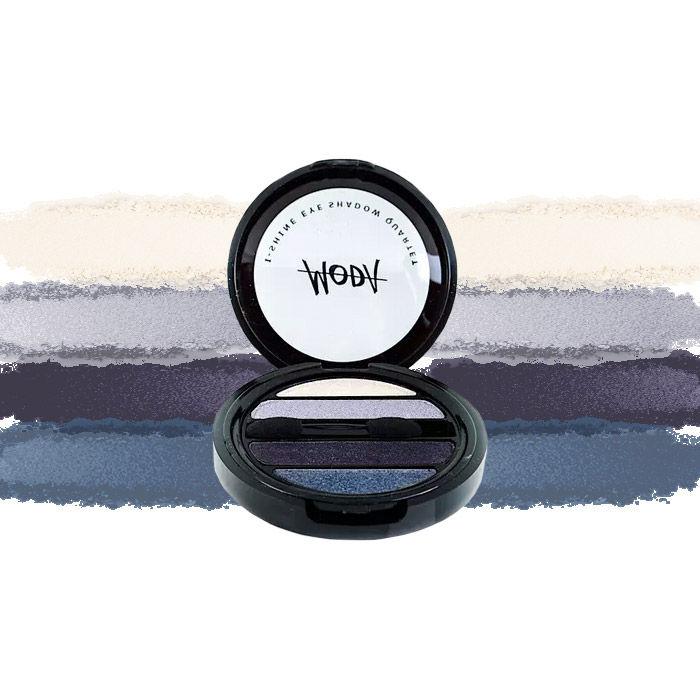 Buy Moda Cosmetics I Shine Eyeshadow Quartet Violet Blue 09-Purplle