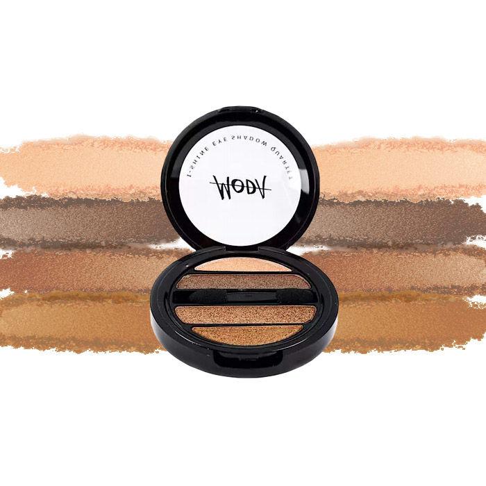 Buy Moda Cosmetics I Shine Eyeshadow Quartet Brick 11-Purplle