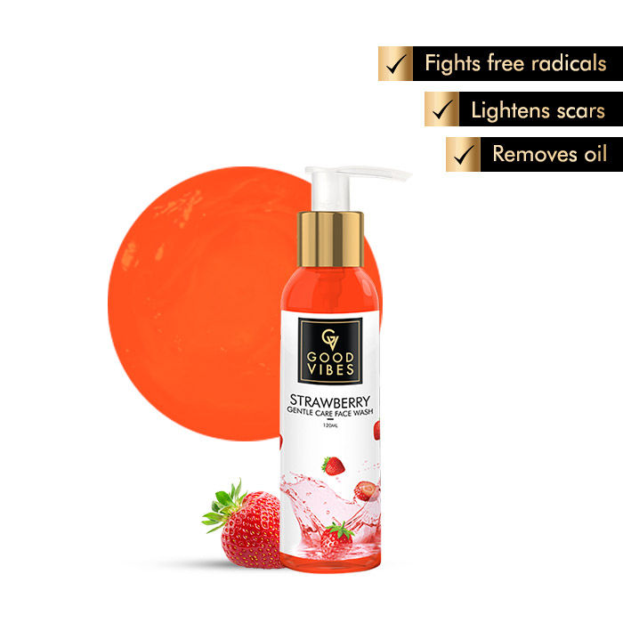 Buy Good Vibes Gentle Care Face Wash - Strawberry (120 ml)-Purplle