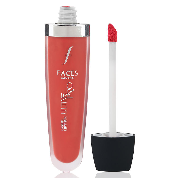 Buy Faces Canada Ultime Pro Liquid Lipstick Matte Tangy Orange 02 (6 ml)-Purplle