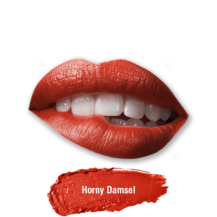 Buy Stay Quirky Lipstick, Soft Matte, Red, Badass - Horny Damsel 28-Purplle