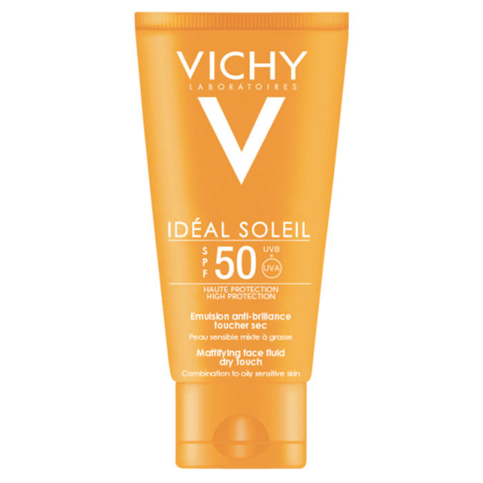 Buy Vichy Ideal Soleil High Protection Mattifying Face Fluid Dry Touch SPF 50 (50 ml)-Purplle