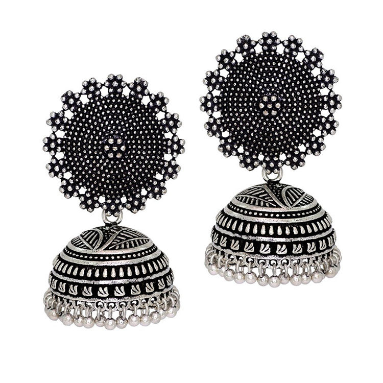 438c908b5 ... Oxidized Silver Jhumka Earrings. Details; Reviews; Related; Questions