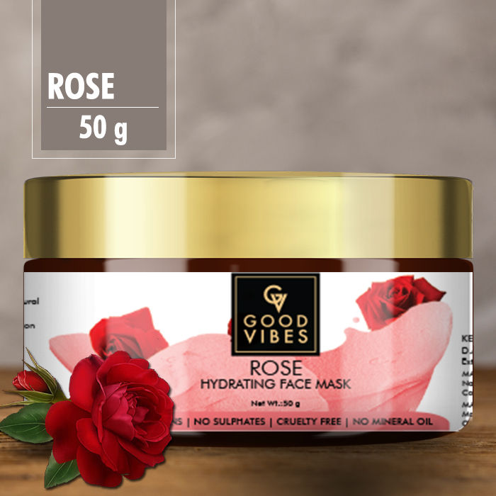 Buy Good Vibes Hydrating Face Mask - Rose (50 gm)-Purplle