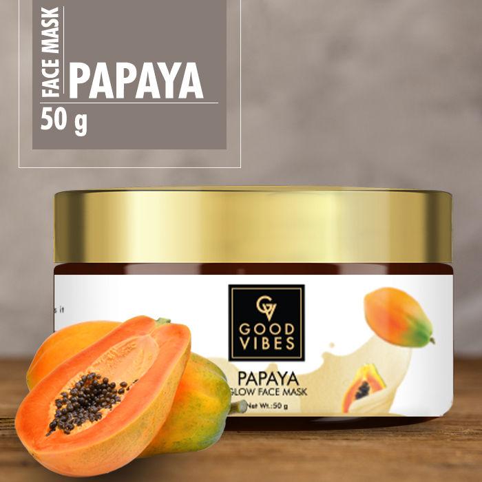 Buy Good Vibes Glow Face Mask - Papaya (50 gm)-Purplle