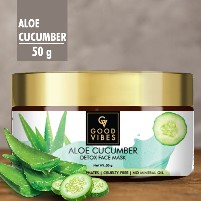 Buy Good Vibes Detox Face Mask - Aloe Cucumber (50 gm)-Purplle