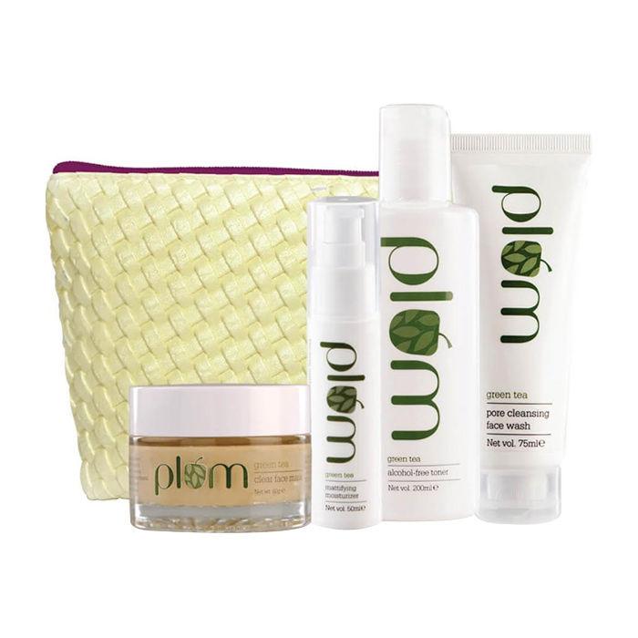 Buy Plum Green Tea Face Care - Full Set-Purplle