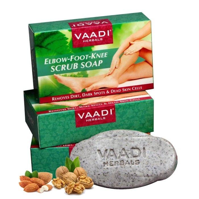 Buy Vaadi Herbals Elbow-Foot-Knee Scrub Soap With Almond & Walnut Scrub (75 g) (Pack of 3)-Purplle