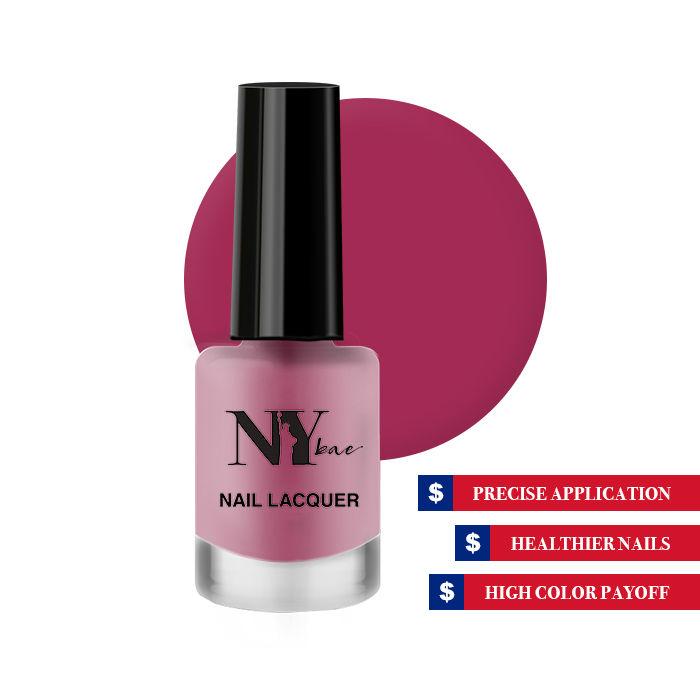NY Bae Nail Lacquer, Matte, Pink , Macaroon 10