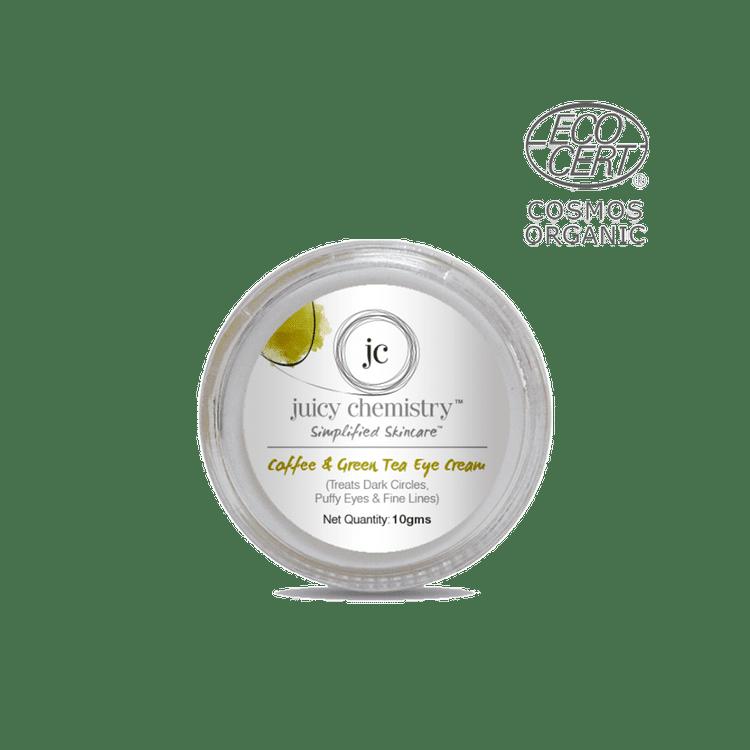 Juicy Chemistry Organic Coffee and Green Tea Eye Cream (For dark circles  and puffy eyes) (10 g)