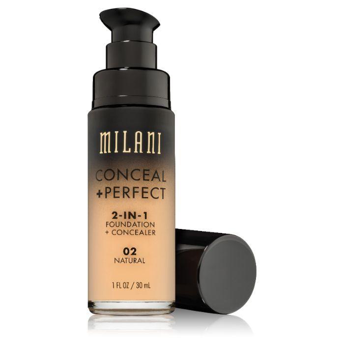 Buy Milani 2-IN-1 Foundation + Concealer 02 Natural (30ml)-Purplle