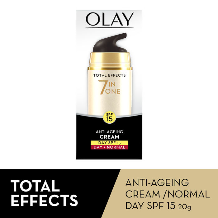 Buy Olay Total Effect 7 IN 1 Anti Ageing Skin Cream Normal SPF 15 (20 g)-Purplle