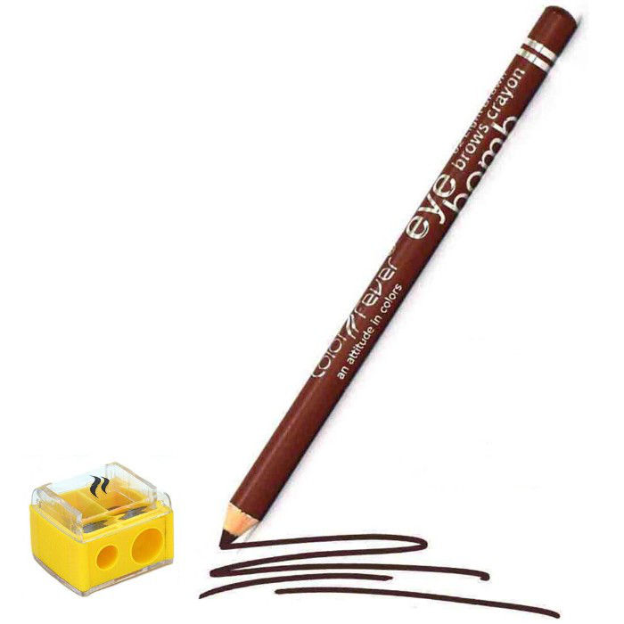 Buy Color Fever Eye Brow Pencil - Brown With Sharpener (1.8 g)-Purplle