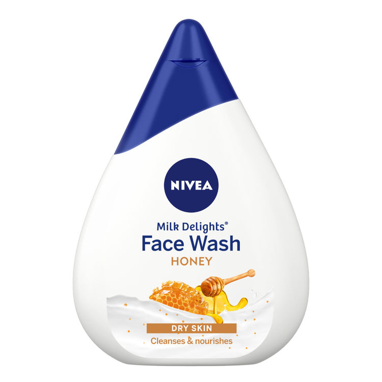 Buy NIVEA Face Wash Milk Delights Moisturizing Honey Dry Skin 50ml-Purplle