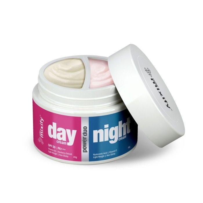 MIXIFY UNLOC POWER DUO Day & Night Cream  DAY CREAM (45g) with SPF 50,  PA+++ & Vitamin B3