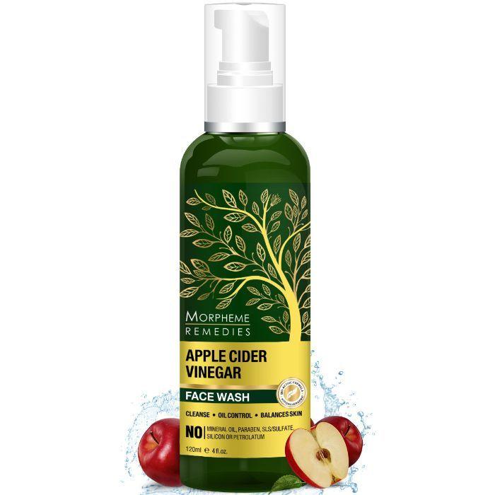 Morpheme Remedies Apple Cider Vinegar Face Wash - Oil Control, Balances  Skin ph (120 ml) with USDA Organic Apple Cider Vinegar