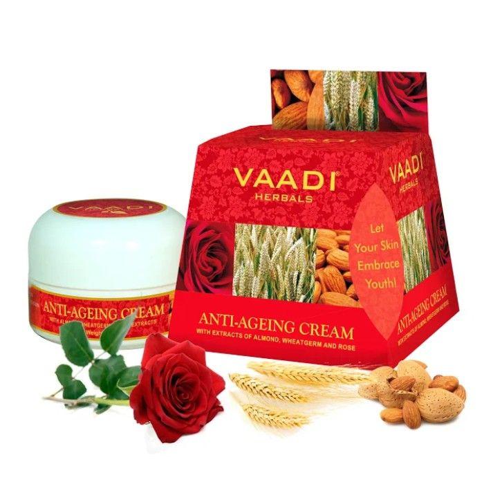 Buy Vaadi Herbals Anti Ageing Cream Almond, Wheatgerm Oil & Rose (30 g)-Purplle