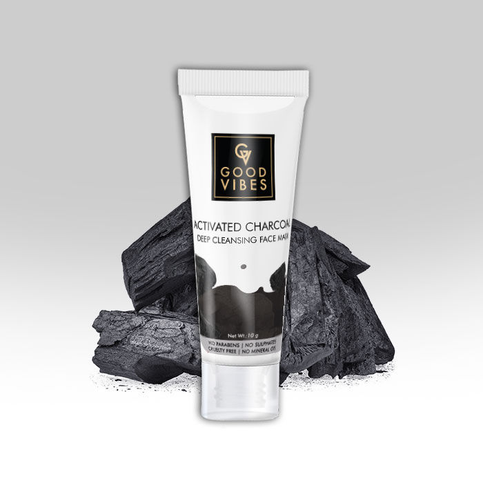 Buy Skin Care Face Pack Good Vibes Deep Cleansing Face Mask - Activated Charcoal - Travel Size (10 g) Only Rs. 55