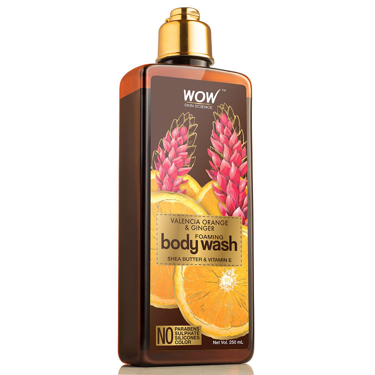 Wow Skin Science Valencia Orange Ginger Foaming Body Wash 250 Ml