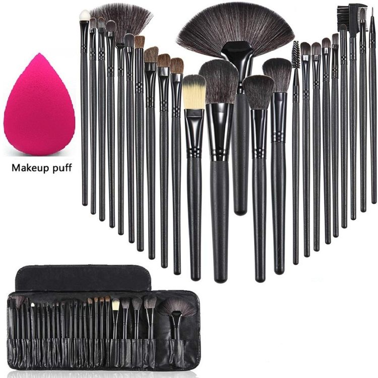 Ay Makeup Brushes Sets With Leather