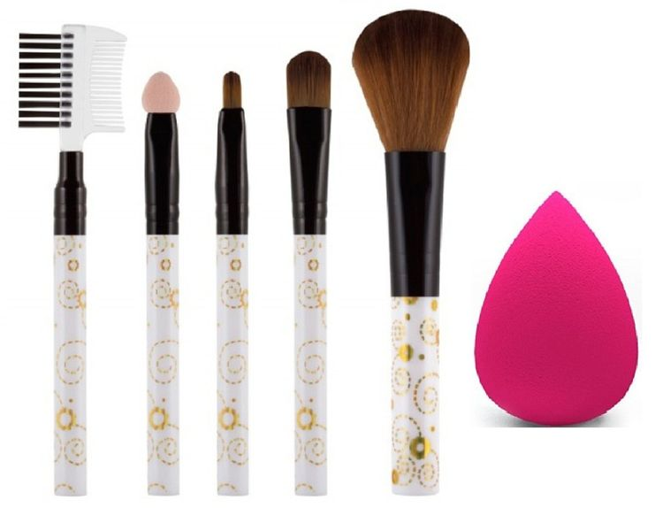 AY Makeup Brush Set Of 5 With 1 Beauty