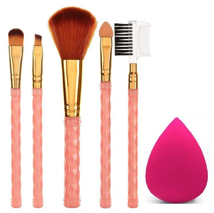 Ay Makeup Brush Set Of 5 With 1