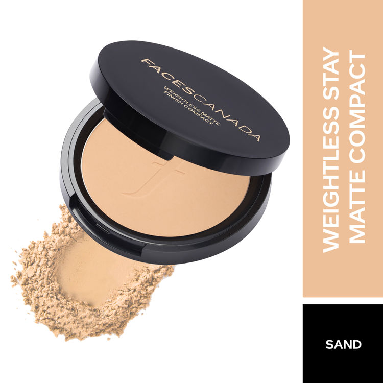 Buy Faces Canada Weightless Stay Matte Compact SPF-20 Vitamin E & Shea  Butter - Sand 04 (9 g) Online   Purplle