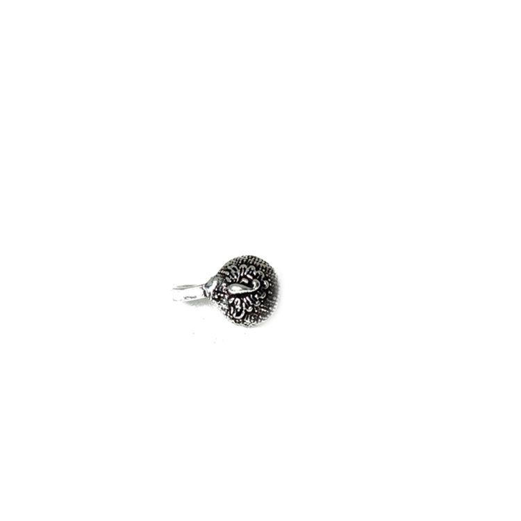 Buy Ferosh Mayuri Silver Oxidised Clip On Nose Pin Online At